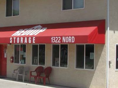 storage office with packing supplies in Chico
