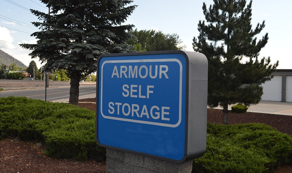 When you see this sign, it's time to stop for the best self storage in town here at Armour Self Storage!