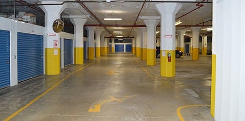 Photo of the interior of Armour Self Storage's flagship store in Milwaukee.