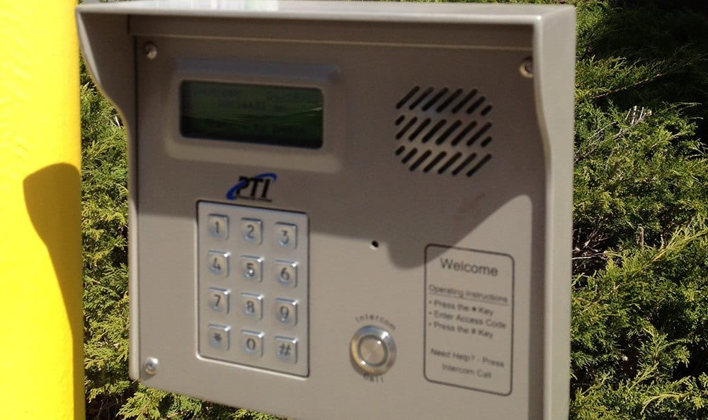 Our secure keypad ensures only authorized customers may enter our premises here at Armour Self Storage, and that your belongings are secure!
