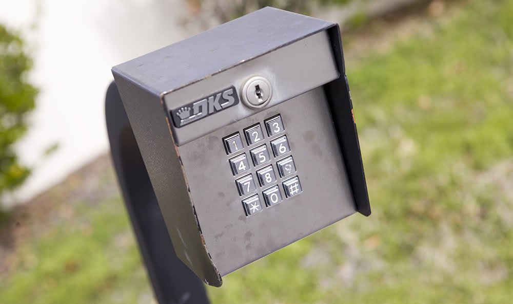 Keypad-controlled access, with unique codes for each Customer, keep your items safe at Moody Road Storage