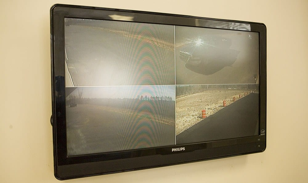 Security monitors allow our staff to see what's happening around our property at Moody Road Storage.