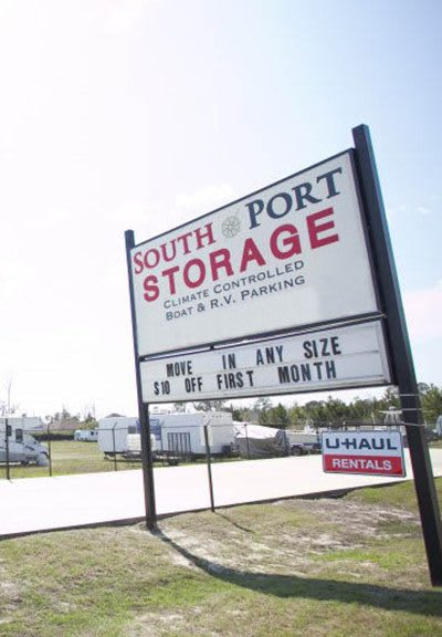 We have climate-controlled storage and more here at South Port Storage