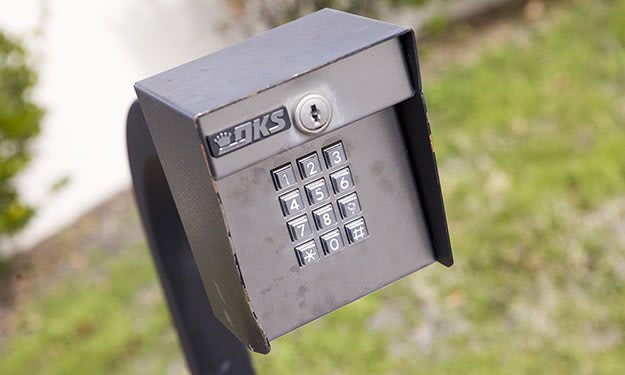 Keypad-controlled access, with unique codes for each Customer, keep your items safe at South Port Storage