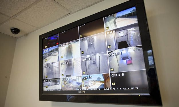 Security monitors allow our staff to see what's happening around our property at South Port Storage.