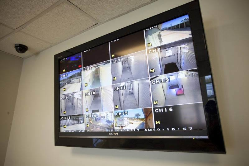 Video surveillance ensures safe and secure storage