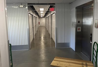 Elevator access to secure storage at Frederica Storage
