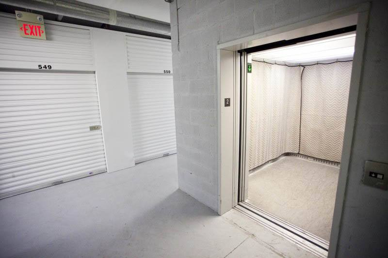 Elevator access at self storage in GA