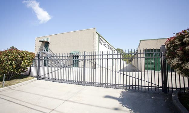 Secure access gates with unique keycodes keep your belongings safe at Victory Drive Self Storage