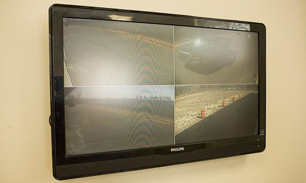 Security monitors allow our staff to see what's happening around our property at Victory Drive Self Storage.