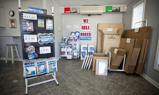 Purchase all the moving and packing supplies you'll need in our office at Thunderbolt Self Storage