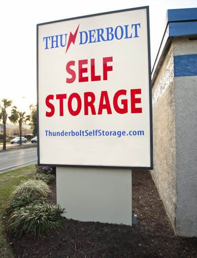 Our sign out front of our self storage facility here in Savannah, GA