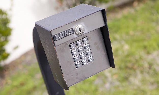 Keypad-controlled access, with unique codes for each Customer, keep your items safe at Thunderbolt Self Storage