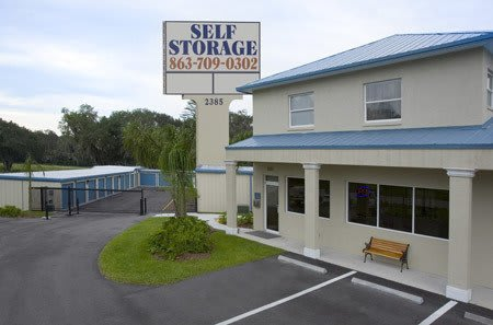 Front office exterior at New Highlands Self Storage self-storage in Bartow, FL