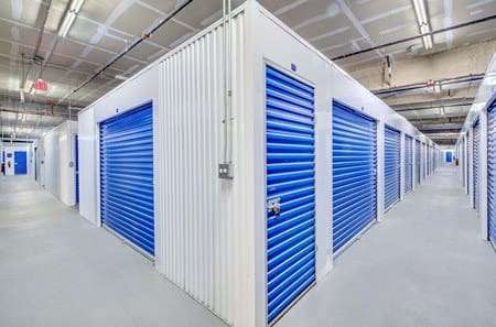 Interior view of storage units at Seaport Storage in Tampa