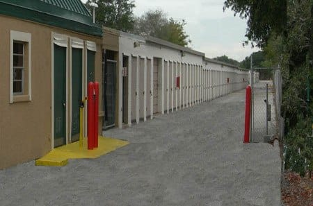 Gated driveway at our Clearwater Self Storage facility