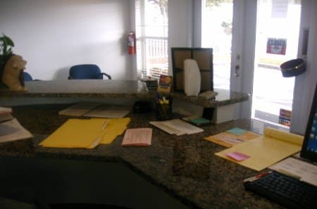 Office area at self storage in Clearwater