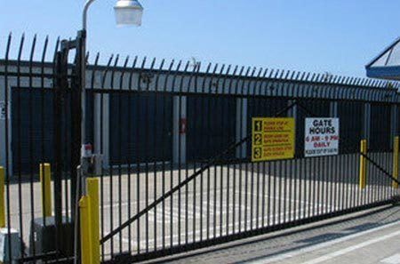 Gated access to Hayward self storage