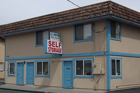 Entrance to self storage in Tahoe