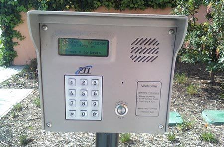 Keypad security at Valley Village self storage