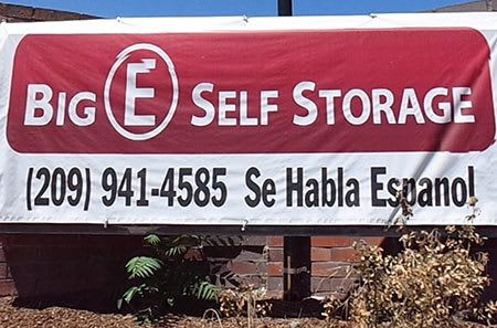 Stockton self storage facility entrance.