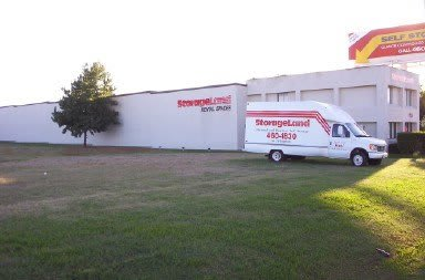 Exterior Of Storage Units With Moving Truck
