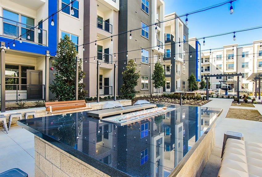 There's no better place on hot summer days than poolside at Maple District Lofts in Dallas.