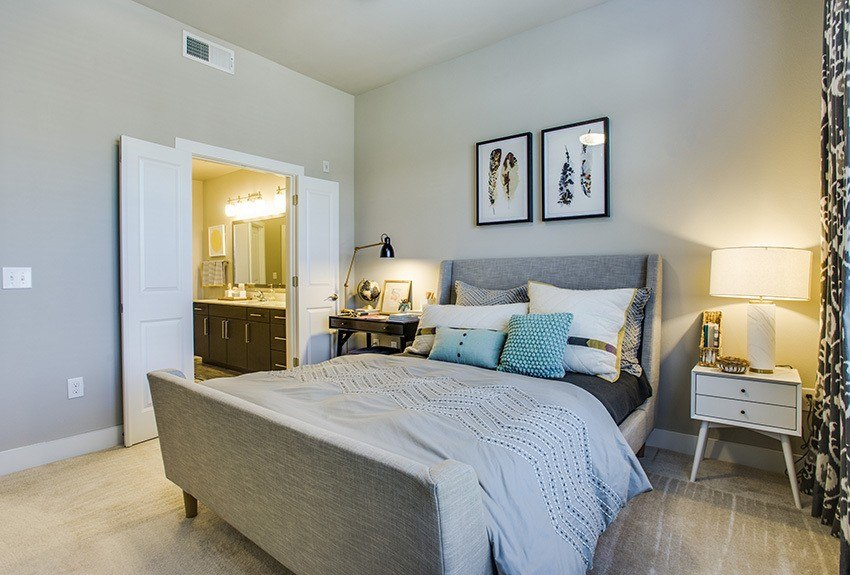 When the day is done, your spacious bedroom at Maple District Lofts provides the perfect environment for a good night's sleep.