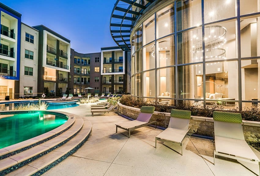 View of our resort style pool at Maple District Lofts