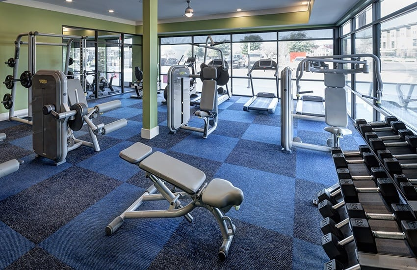 Get and stay fit in Axis 3700's on-site fitness center.