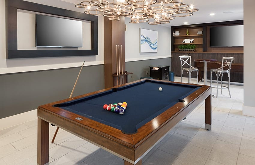 If billiards is your game, we've got you covered in Axis 3700's clubhouse.