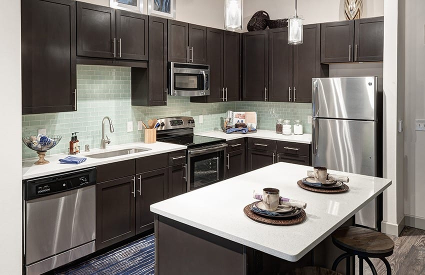 You'll love trying out new recipes in the gourmet kitchen of your new apartment home at Axis 3700.