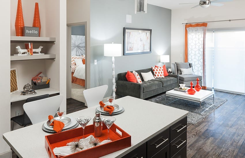 Looking for decorating ideas? Check out the model units at Axis 3700; they're filled with wonderful decor.