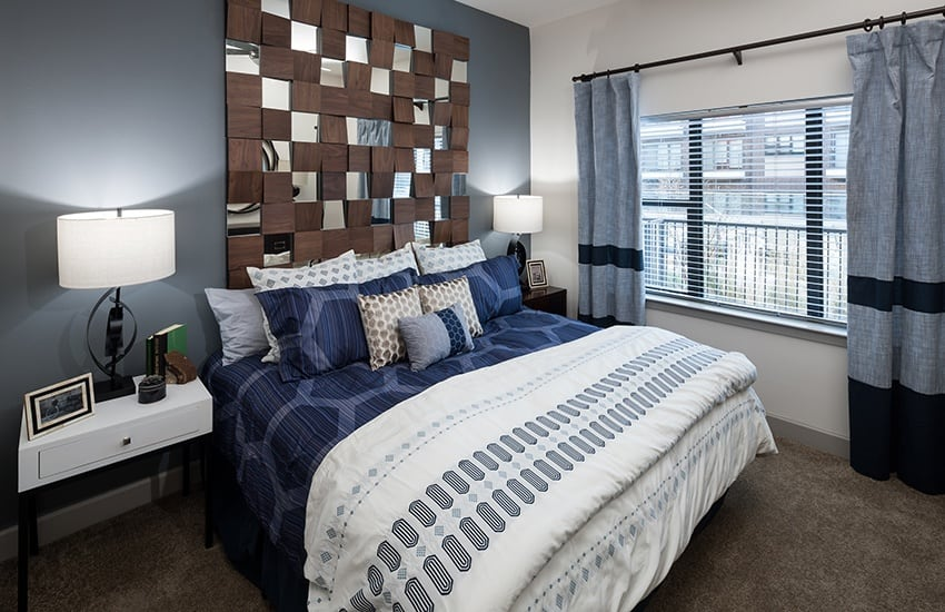 When the day is done, you'll love the large bedroom in your luxury apartment home at Axis 3700 in Plano.