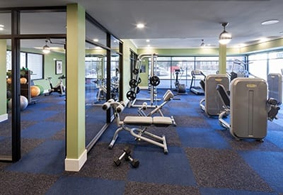 If you want to get and stay fit, look no further than Axis 3700's on-site fitness center.