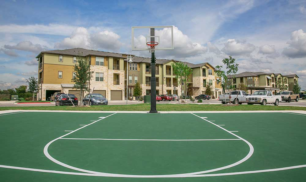 Basketball court at our san antonio apartments