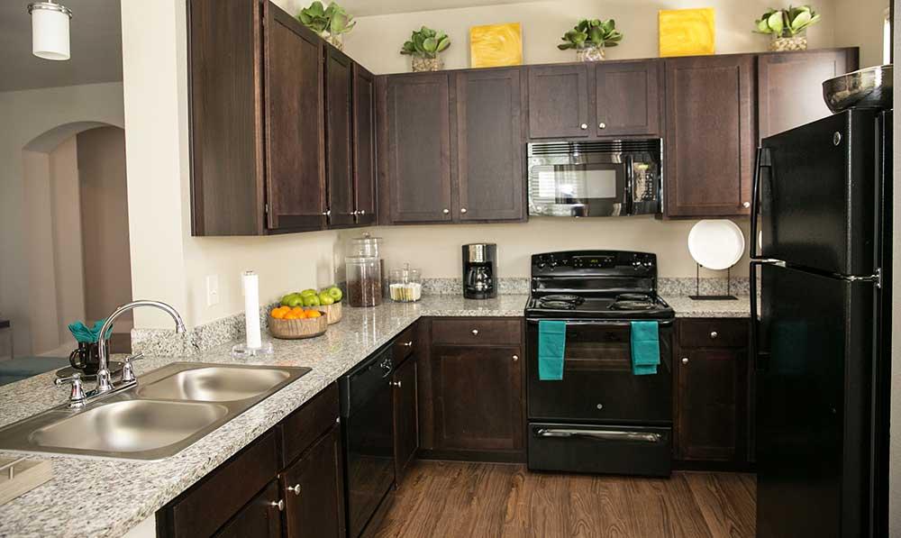 Kitchen at our san antonio apartments