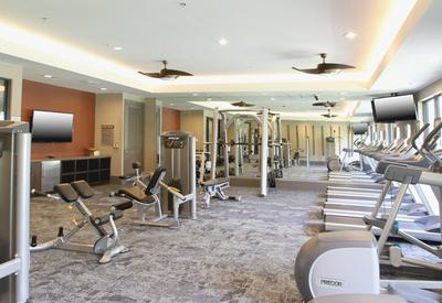 Amenity gym at Axis at The Rim
