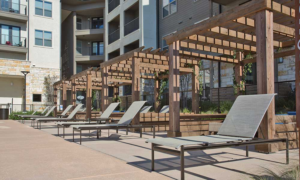 Lounge by the pool and get a tan at Axis at The Rim