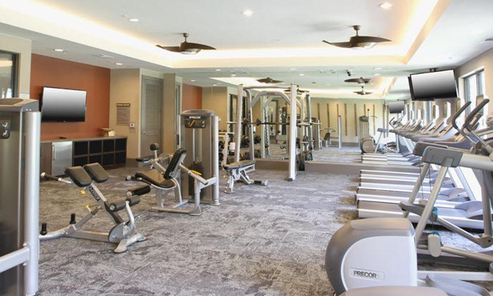 Amenity gym at Axis at The Rim