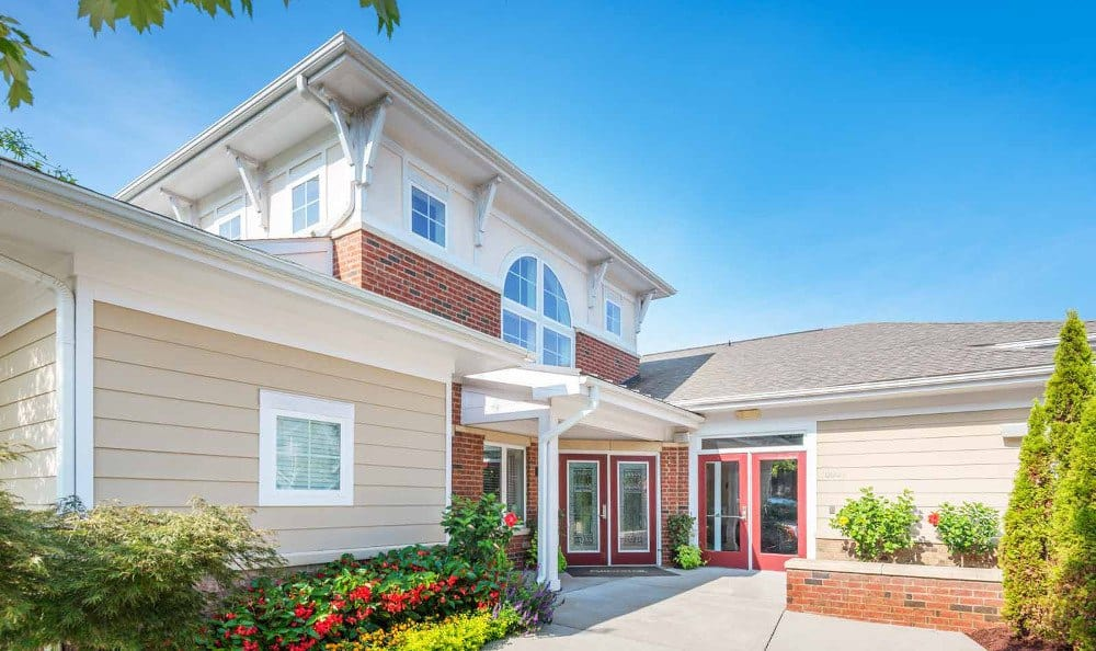 Beautiful apartment exterior at Southern Oaks at Davis Park in Morrisville, NC