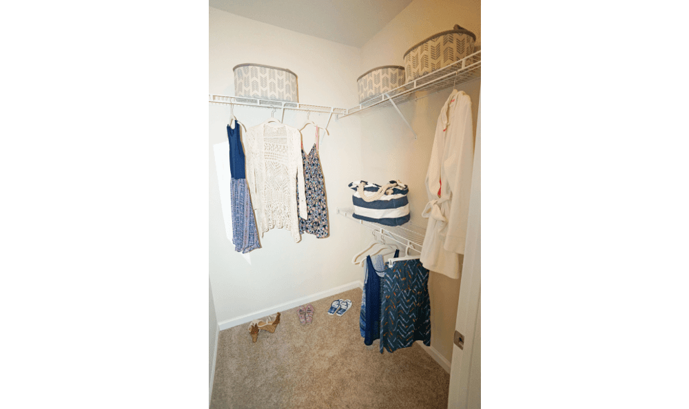 Walk-In Closets available at Southern Oaks at Davis Park in Morrisville, NC