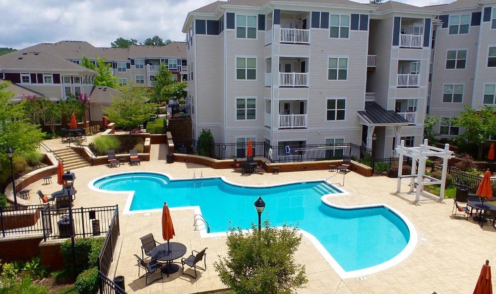 Large Resort Style Pool at Southern Oaks at Davis Park in Morrisville, NC