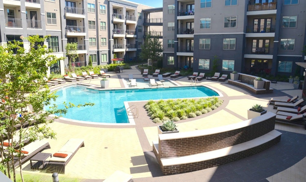 Beautiful Pool at Axis at Wycliff in Dallas, TX