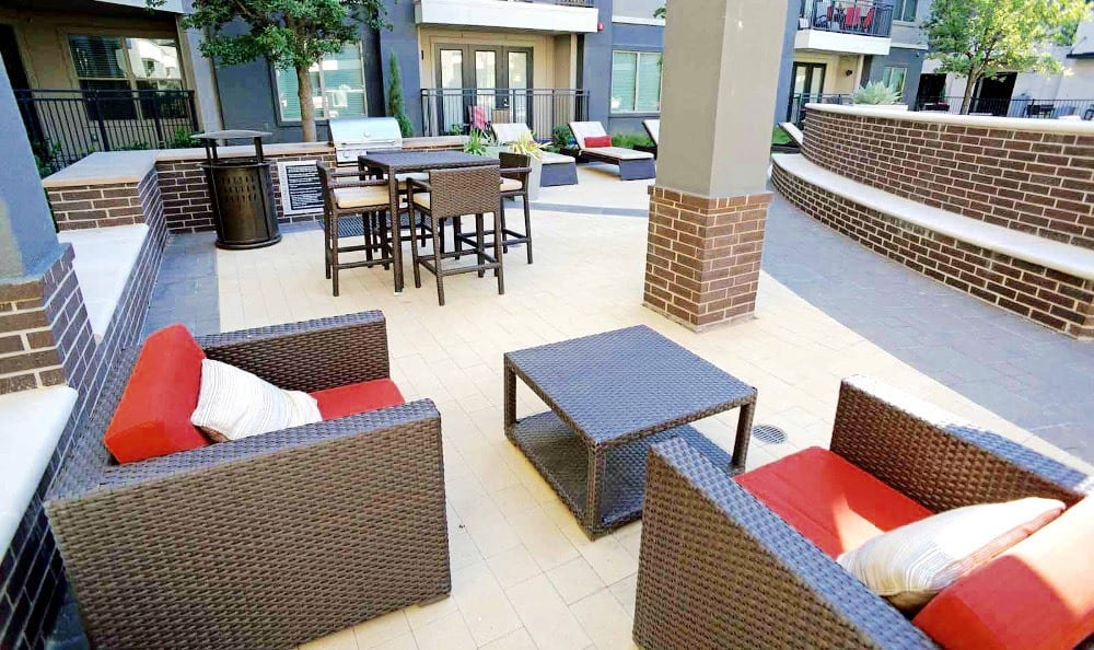 Outdoor Lounging Area at Axis at Wycliff in Dallas, TX