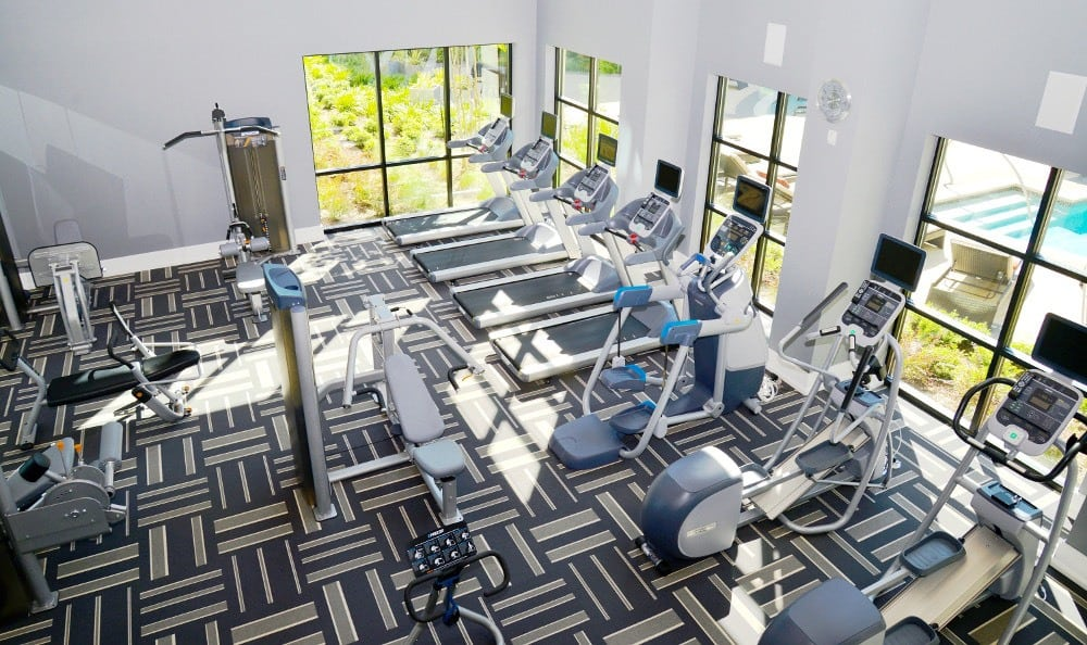 Gym available to Residents at Axis at Wycliff in Dallas, TX