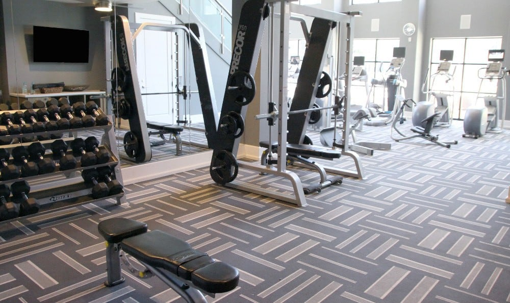 Fitness Center at Axis at Wycliff in Dallas, TX