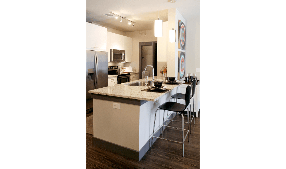 Apartment Kitchen at Axis at Wycliff in Dallas, TX