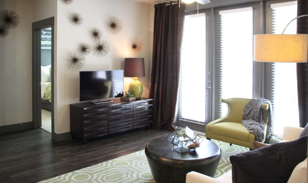 Another View of an Apartment Living room at Axis at Wycliff in Dallas, TX