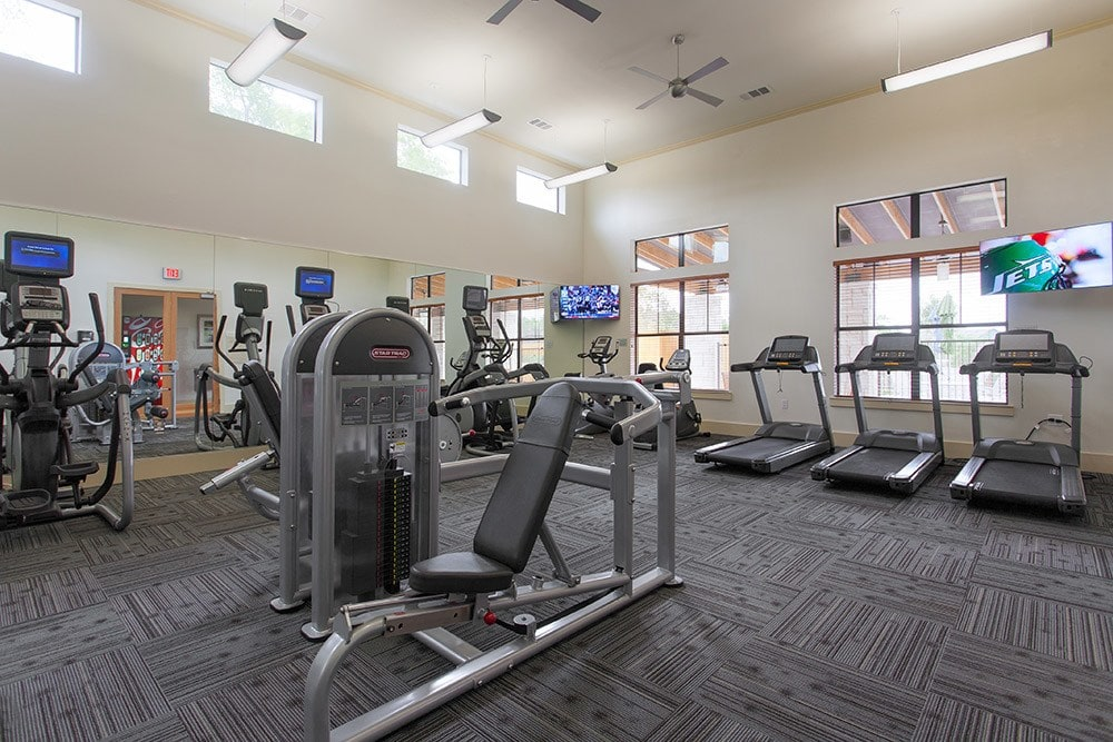 Fitness Center At Our Apartments In Autsin